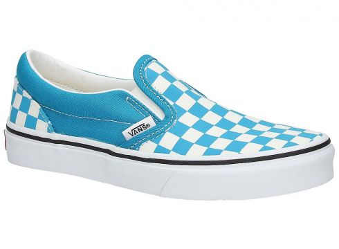 Vans Classic Checkerboard Slip-Ons blauw(114379200)