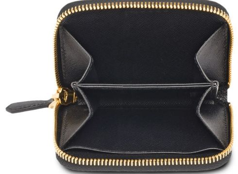 Prada zip around coin purse - Noir(76646635)