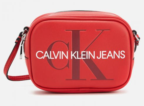 Calvin Klein Jeans Women\'s Monogram Camera Bag - Cherry(90304412)