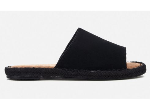 TOMS Women\'s Clarita Suede Slide Espadrille Sandals - Black - UK 3 - Schwarz(50508942)