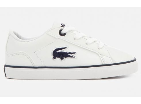 Lacoste Toddler\'s Lerond 318 2 Trainers - White/Navy - UK 3 Toddler - Weiß(52199375)