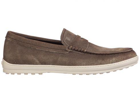 Men's suede loafers moccasins(116887611)