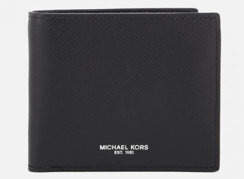 Michael Kors Men\'s Harrison Billfold Wallet With Coin Pocket - Black(73244873)