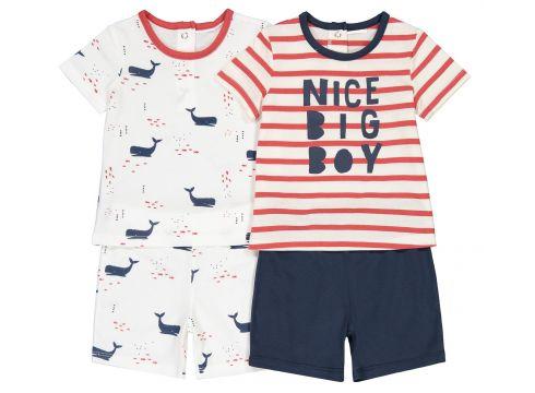 Lote de 2 pijamas con short, 3 meses - 4 años(108523042)