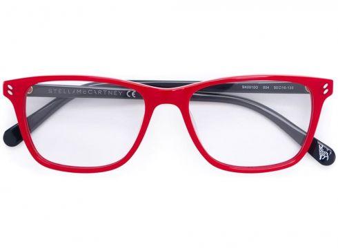 Stella Mccartney Kids lunettes de vue rectangulaires - Rouge(65464369)