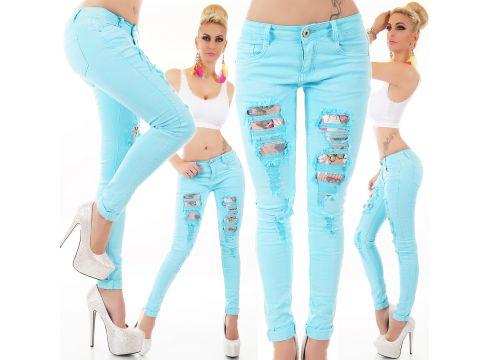 Röhre Jeans Destroyed Netz Basic(80144068)