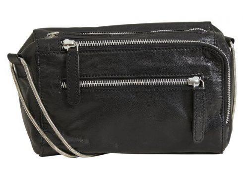 OBJECT COLLECTORS ITEM Mellanstor Lädersydd Crossover-väska Kvinna Svart(112326222)