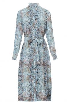 Kleid mit Phyton-Print(117292105)