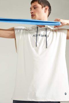 DeFacto Erkek Baskılı Regular Fit Kolsuz Kapüşonlu Spor Sweatshirt(125932026)
