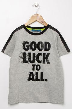 Funky Rocks Gri Melanj T-Shirt(113994495)