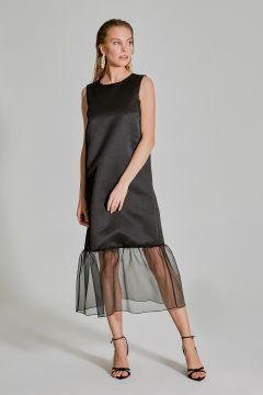 People By Fabrika Organze Detaylı Saten Elbise(119263879)