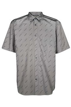Balenciaga Erkek Gri Düğmeli Yaka Logolu Kısa Kol Gömlek 40 IT(113464382)
