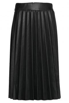 New Skin Stelpa Knielanges Kleid Schwarz MADS NØRGAARD(109243101)