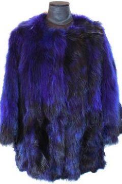 Veste Frame Manteau De Marmotte Et Renard Bleu(101554083)