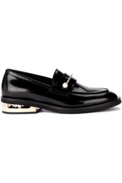 Chaussures Coliac Mocassine Abby en cuir noir avec bijou(115440928)