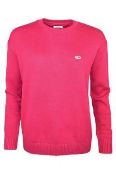 Pull Tommy Jeans Pull col rond rouge bordeaux en maille pour femme(115411316)