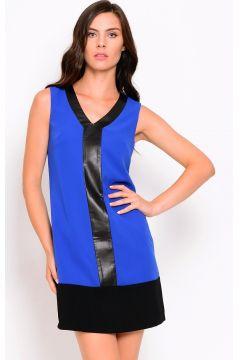 Koton Deri Detaylı Saks Mavi Elbise(113946857)