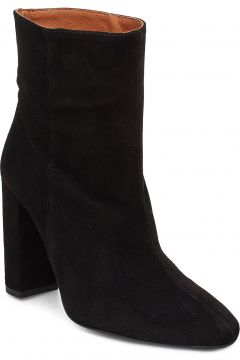 Joan Suede Black Shoes Boots Ankle Boots Ankle Boots With Heel Schwarz HENRY KOLE(114159969)