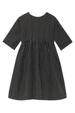 Gestreiftes Kleid aus Leinen Tap(113867993)