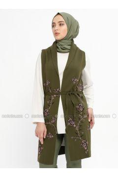 Khaki - Unlined -- Vest - Ginezza(110331739)