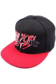 Casquette Hip Hop Honour Casquette NY fitted noire et visière rouge(115396360)