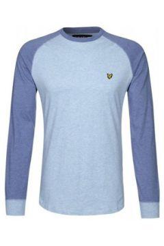 T-shirt Lyle Scott T-Shirt Lyle and Scott bleu à manches longues pour homme(115387378)