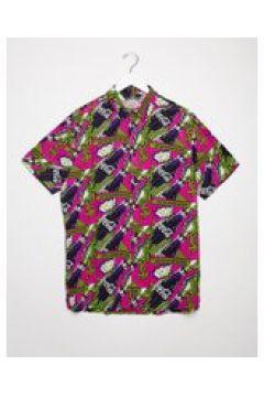 Bershka - Coca-Cola - Camicia oversize rosa stampata in coordinata(120274461)