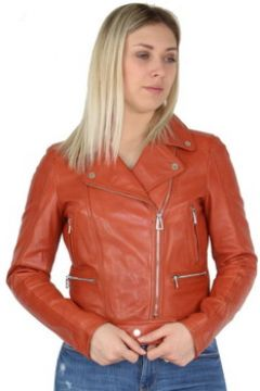 Veste Daytona Blouson en cuir Rose Garden ref_day41139 Orange(115558665)