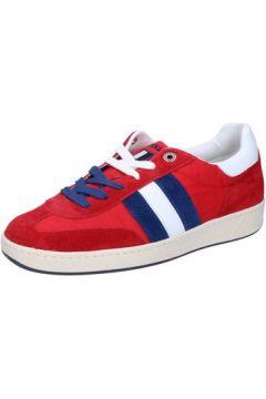 Chaussures D\'acquasparta sneakers rouge daim textile AB907(115395380)