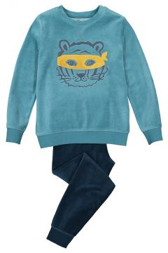 Pijama de manga larga de terciopelo de algodón orgánico 3-12 años(121417279)