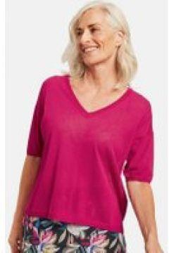 Cienki sweter z rękawem o dł. 1/2 Różowy 40/M(115899455)
