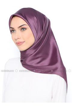 Purple - Plain - Scarf - Nihan(110334962)