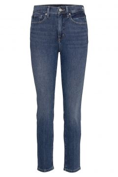 High-Rise Slim Ankle Jean Slim Jeans Blau BANANA REPUBLIC(116547308)