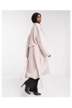 French Connection - Daralice - Cappotto di lana con cintura crema(120791597)