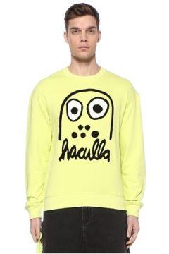 Haculla Erkek Monster Drop Neon Sarı Sweatshirt XL EU(108972834)