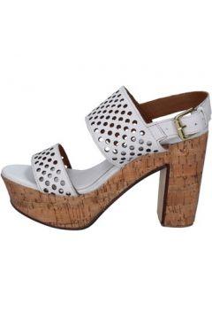 Sandales Shocks sandales blanc cuir BY394(115401127)