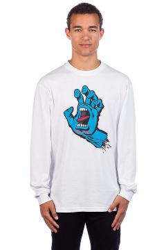 Santa Cruz Screaming Hand Long Sleeve T-Shirt wit(85173882)