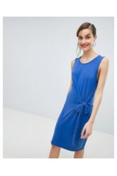 Selected Femme - Blaues Minikleid mit Knoten vorn - Blau(94965303)