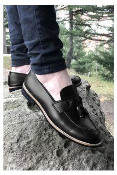 MODA (708) Siyah Cilt Püsküllü Erkek Ayakkabı(110951679)