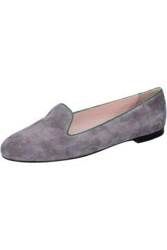 Chaussures Bally mocassins gris daim vert BY04(115400837)