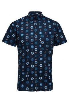 SELECTED Imprimée - Chemise À Manches Courtes Men blue(114652186)