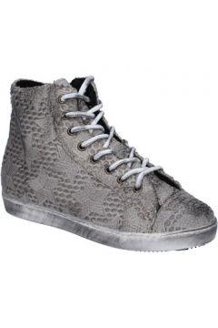 Chaussures Mancapane sneakers gris textile BX169(115442491)