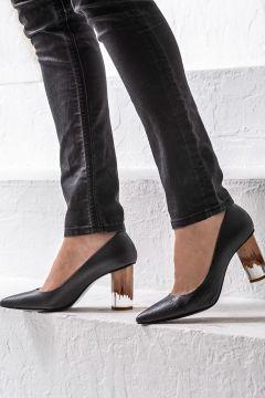 Elle Shoes AILEAN Hakiki Deri Siyah Kadın Ayakkabı(121272975)