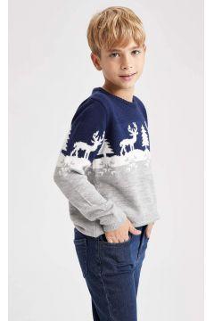 DeFacto Erkek Çocuk Yeni Yıl Temalı Triko Kazak(125928230)