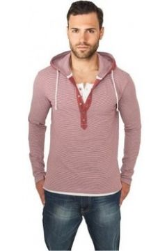 T-shirt Urban Classics T-shirt rayé à capuche(127966134)