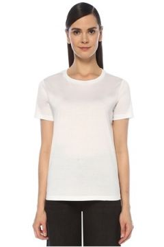 Outpost Kadın Beyaz Bisiklet Yaka Basic T-shirt S(118330076)