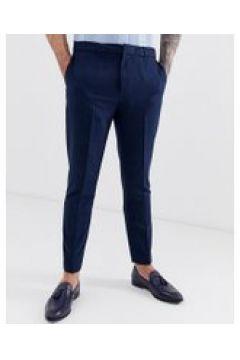 Harry Brown - Schmal geschnittene Hose mit Nadelstreifen und elastischem Bund - Navy(95033304)