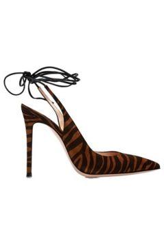Gianvito Rossi Kadın Irene Kahverengi Desenli Nubuk Topuklu Ayakkabı 35 EU(108378152)