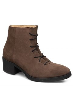 Yatfai Boot Walnut Suede Shoes Boots Ankle Boots Ankle Boots With Heel Braun GRAM(114161058)