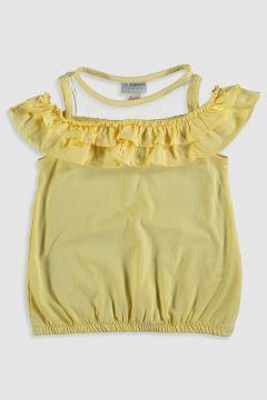 Çocuk Kız Çocuk Fırfırlı Omuzu Açık Tişört(123833635)